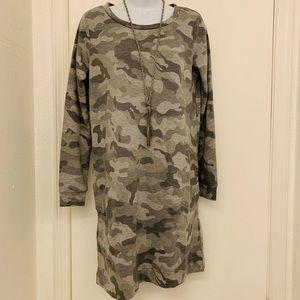NWT Camo French Terry Dress